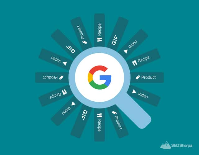 Image search badges categories