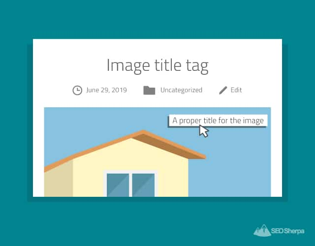 Image Title Tag