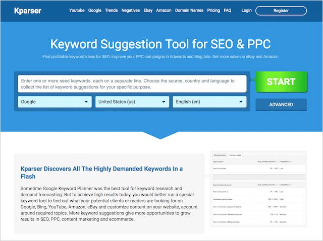 Kparser image SEO keyword research tool