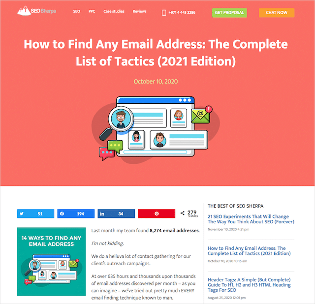 Find Email Address Post