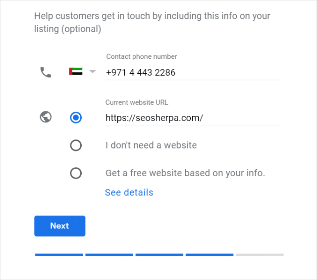 Add Contact Information To Google My Business
