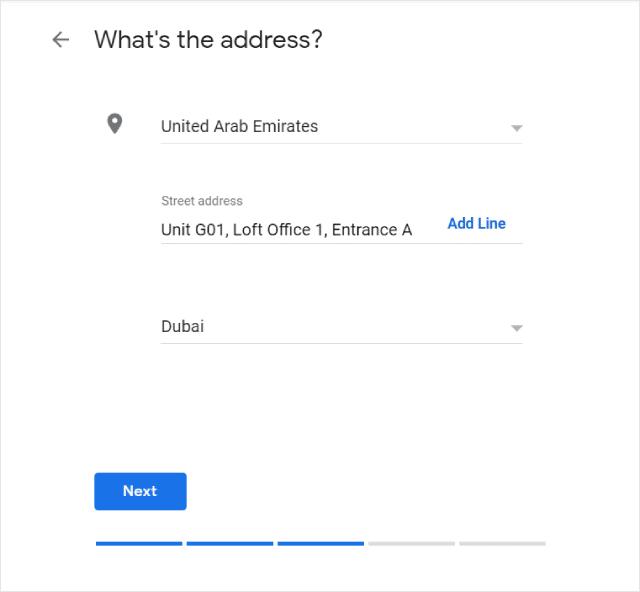 Add Google Maps Address