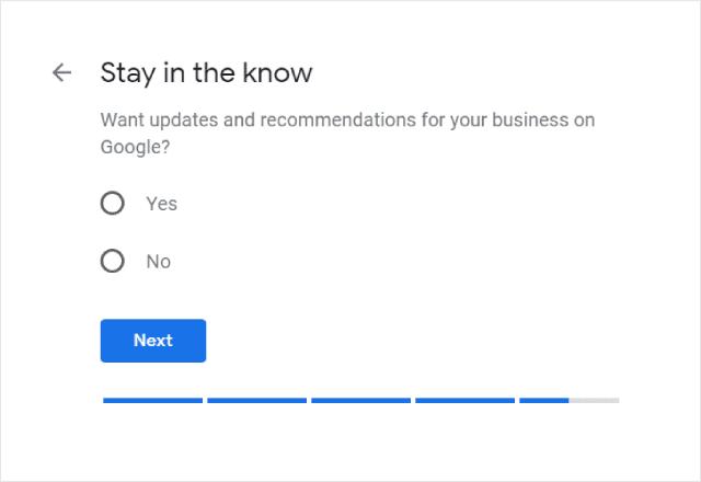 Google My Business Updates Opt In