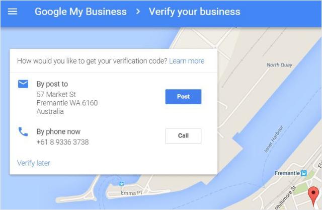 Google My Business Phone Verification