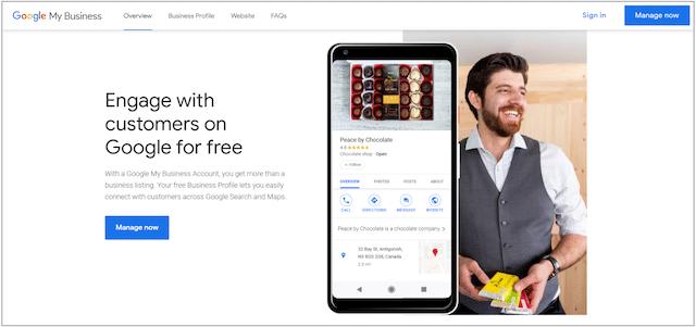 Google My Business Login Page