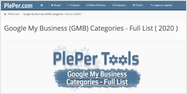 PlePer Category Helper Tool