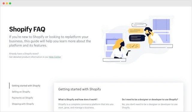 Shopify FAQ Page