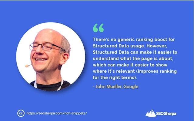 Structured Data Quote John Mueller Google