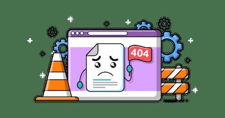 404 Error Page Header Image