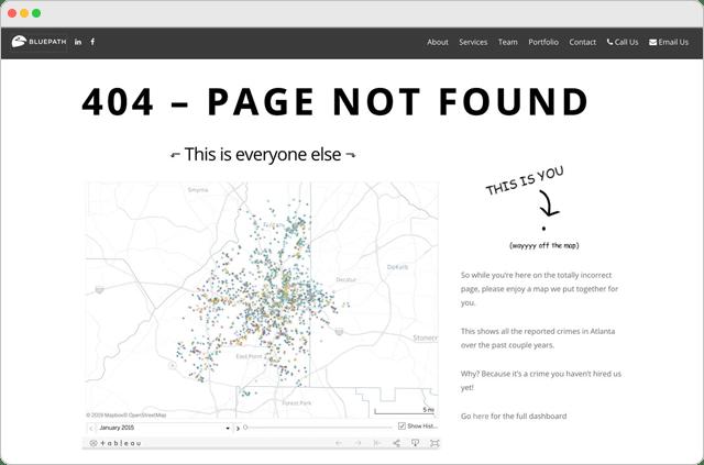 Blue Path 404 Error Page