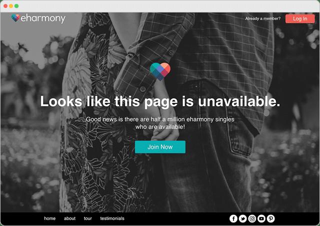 Eharmony 404 Error Page