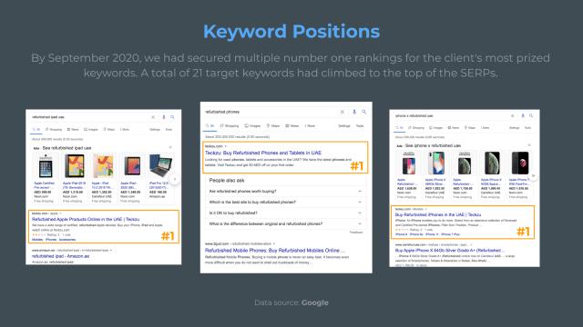 Teckzu Keyword Position Results