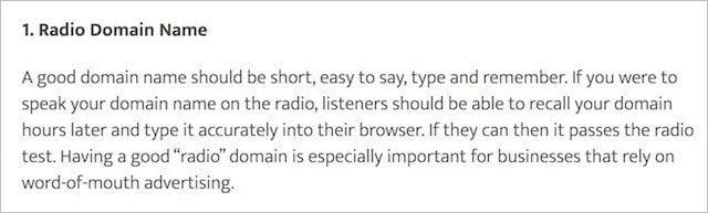 Radio Domain Names