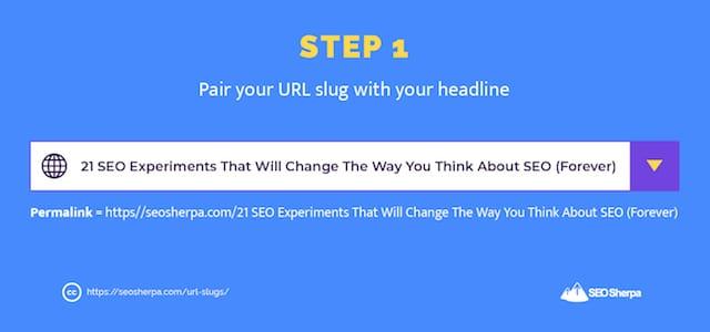URL Slug Creation Step 1