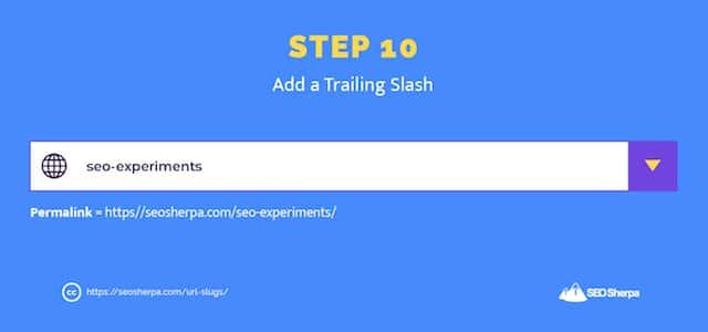 URL Slug Creation Step 10