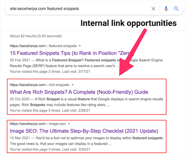 How to find internal link opportunities
