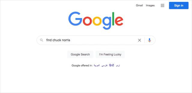 Google Search Tricks Chuck Noris