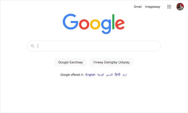 Google Search Trick Pig Latin