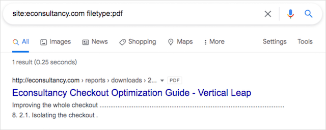 PDF Search Operator