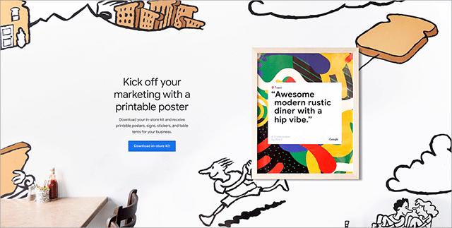 Google My Business Marketing Kit Example