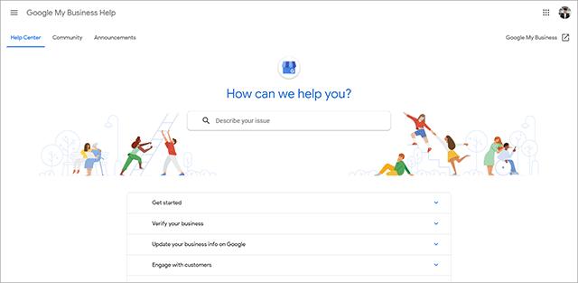Google My Business Support Center