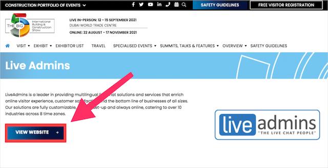 Event Sponsorship Backlink Example