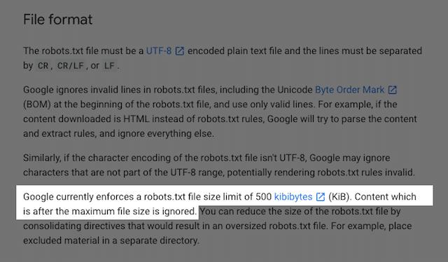 Robots.txt File Size
