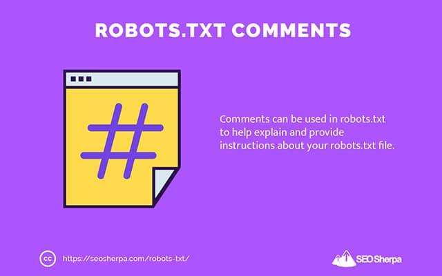 Robots.txt Comments