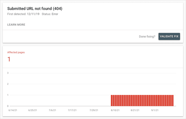 404 Page Not Found Google Search Console