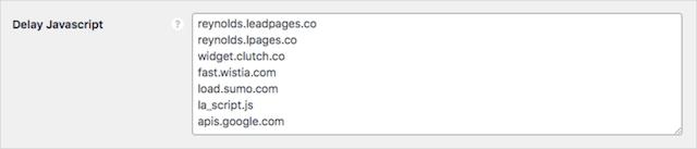 Perfmatters Delay JavaScript