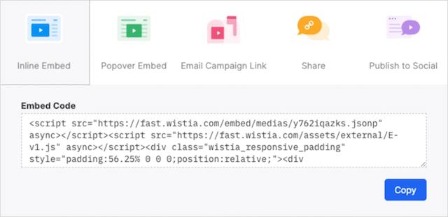 Wista embed code